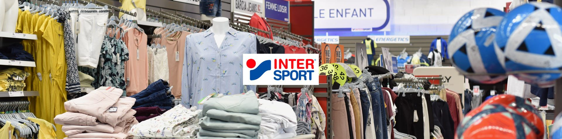 Photo bannière avec logo intersport