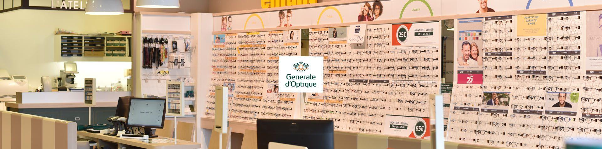 Photo bannière avec logo general-optique