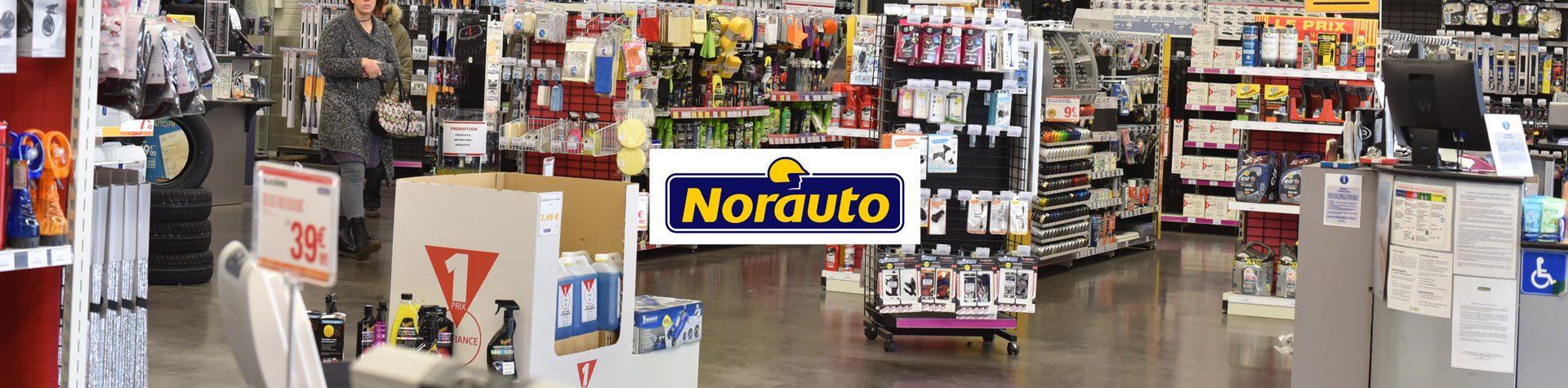 Photo bannière avec logo norauto