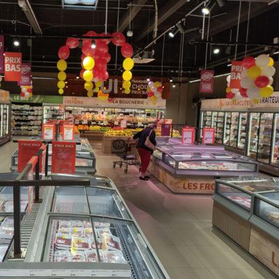 magasin netto à romans vue de l'intérieur